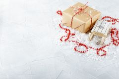 Boxes with Christmas gifts. Stock Image
