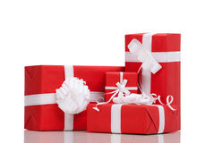 Boxes with Christmas presents Royalty Free Stock Photo