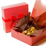 Boxes with cookies Royalty Free Stock Photography