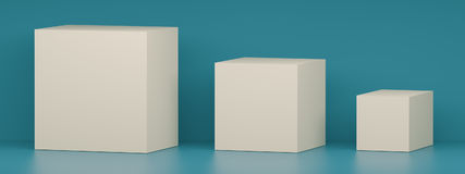 Boxes. 3d Illustration of Abstract White Boxes vector illustration