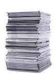 boxes den cd stapeln Arkivfoto