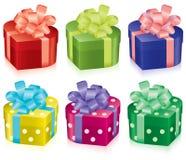 boxes den färgrika gåvan Royaltyfria Bilder