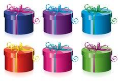 boxes den färgrika gåvan Royaltyfri Foto