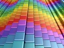 boxes den färgrika regnbågen royaltyfri illustrationer