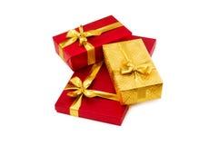 boxes den isolerade gåvan Royaltyfri Bild