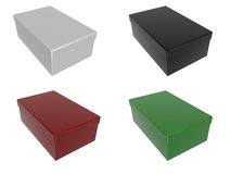 Boxes in different colors Royalty Free Stock Photography