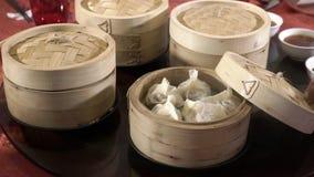 Boxes of dumplings
