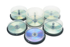 Boxes with DVD disc Royalty Free Stock Images