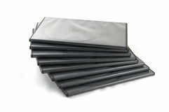 Boxes for DVD disks Stock Image
