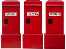 boxes e-post Arkivbild