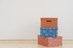 Boxes in empty room Royalty Free Stock Photo