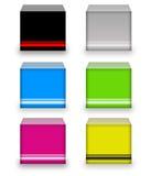 boxes färgrikt Arkivbild