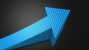 Boxes Formed A Arrow. Black background, 3 in 1, created in 4K, 3d animation stock video footage