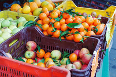 Boxes of fruit to the market Royalty Free Stock Image