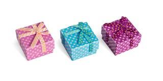 boxes gåva tre Fotografering för Bildbyråer