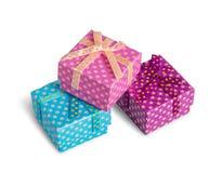 boxes gåva tre Arkivbild