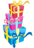 boxes gåva tre Royaltyfria Foton