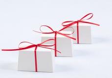boxes gåvawhite Royaltyfri Fotografi