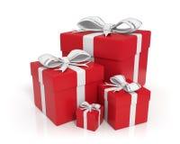 boxes gift red Στοκ Εικόνες