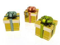 Boxes. Gift boxes on white background, 3D illustration Stock Photo