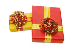 Boxes with gifts Stock Images