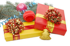 Boxes with gifts Royalty Free Stock Images