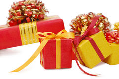 Boxes with gifts Stock Photo