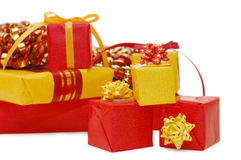 Boxes with gifts Royalty Free Stock Image