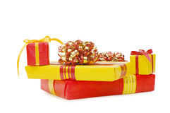 Boxes with gifts Royalty Free Stock Photography