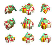 Boxes with gifts. Royalty Free Stock Images