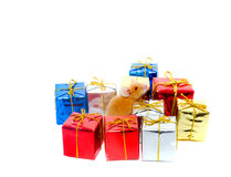 Boxes of gifts Stock Photos