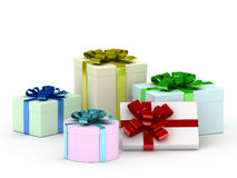 Boxes with gifts Royalty Free Stock Photos