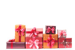 Boxes with gifts isolated Stock Image