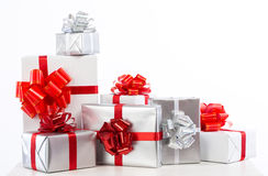Boxes with gifts. Stock Photos