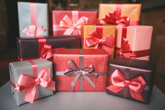 Boxes with gifts. Stock Photography