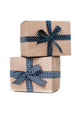 Boxes with gifts Stock Photos