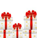 Boxes with gifts on a white background Stock Photography