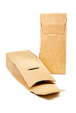 Boxes from the goffered cardboard. On a white background Stock Photo