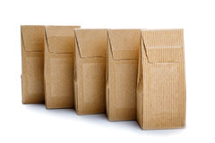 Boxes from the goffered cardboard isolated Stock Photo