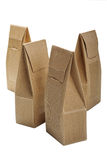 Boxes from the goffered cardboard isolated Stock Photography