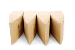 Boxes from the goffered cardboard isolated. On a white background Stock Photos