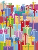 boxes gåvan Arkivbild