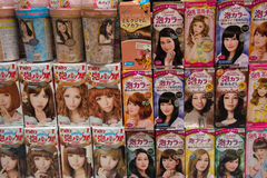 Boxes of Hair Dye Stock Images