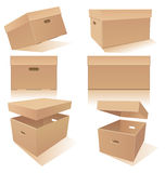 Boxes with handles and lids Stock Photography