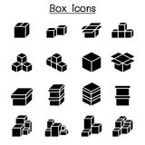 Boxes icon set. Vector illustration graphic design vector illustration