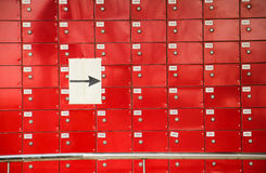 Boxes with identification numbers. Royalty Free Stock Photos