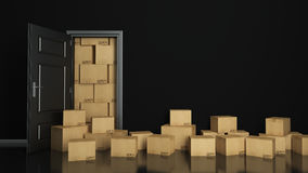 Free Boxes In Empty Room 3D Stock Image - 60923031