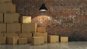Free Boxes In Empty Room 3D Royalty Free Stock Photo - 60923055