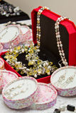 Boxes with jewelry Royalty Free Stock Images