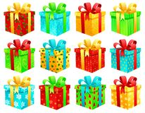 boxes julgåvan royaltyfri illustrationer